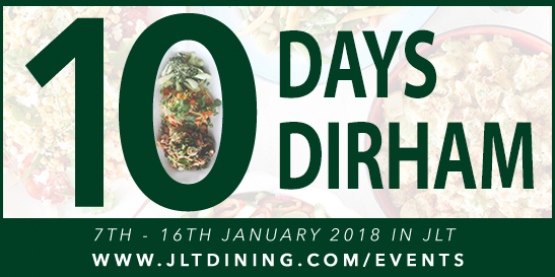 January 2018: 10 Days. 10 Dirham!