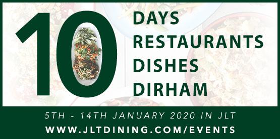 January 2019: 10-4 JLT! 10 Days. 10 Dirham